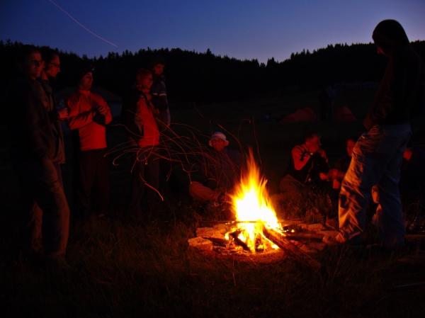 Вечер край огъня